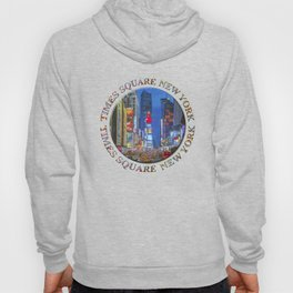 Times Square Broadway (New York Badge Emblem on white) Hoody