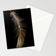 White Feather and Water Stationery Cards