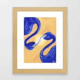 Blue symmetry Framed Art Print