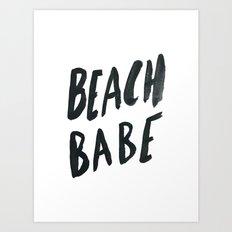 Beach Babe Art Print