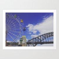 sydney Art Prints featuring sydney. by jemimahana