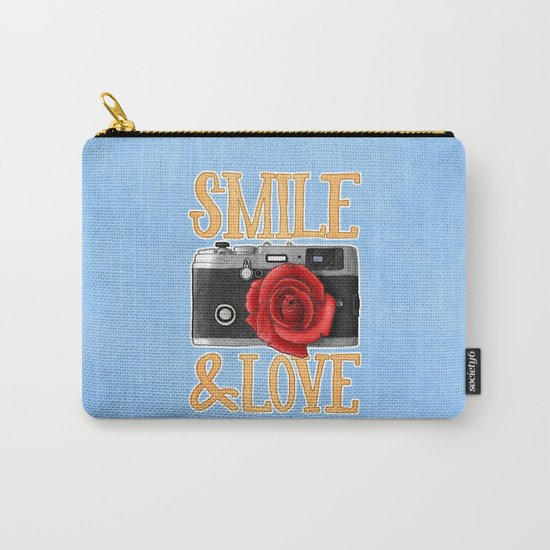 Smile and Love Carry-All Pouch
