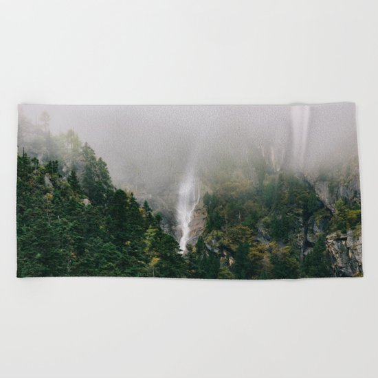 Misty Mountain Morning Beach Towel