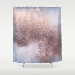 Princess Retro Rose Gold Blush Shower Curtain