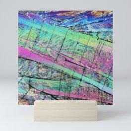 Abstract Rainbow Art - Iridescent Crystal Stripes Mini Art Print