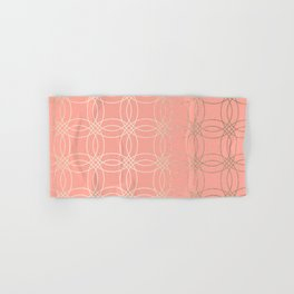 Simply Vintage Link in White Gold Sands and Salmon Pink Hand & Bath Towel