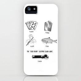 Flush Flask Flute Fish Flash Fun iPhone Case