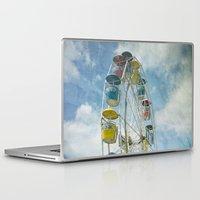 ferris wheel Laptop & iPad Skins featuring Ferris Wheel by Mary Kilbreath