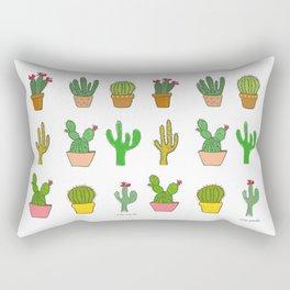 Colorful cactus Rectangular Pillow