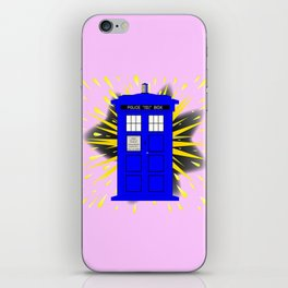 British Police Box With Abstract Explosion iPhone Skin