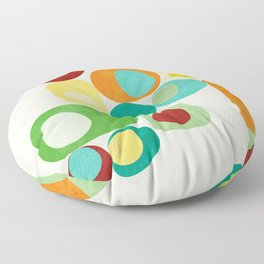 Geometric mid century modern summer shapes 2 Floor Pillow