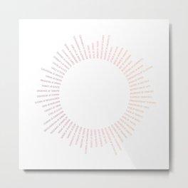 Collective Nouns (Sunrise) Metal Print