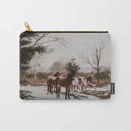 Wild Horses in the Snow Carry-All Pouch