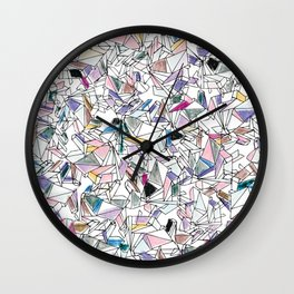 Geometricly Speaking Wall Clock