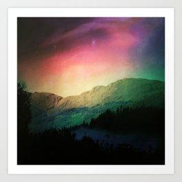 Scottish Mountains Art Print