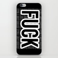 fuck you iPhone & iPod Skins featuring FUCK by HesStillKidrauhl