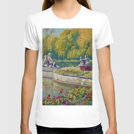 Lake and Gardens with Statuary Landscape by Nikolay Bogdanov-Belsky T-shirt