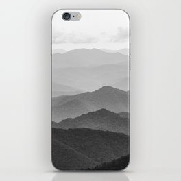 Forest Fade - Black and White Landscape Nature Photography iPhone Skin