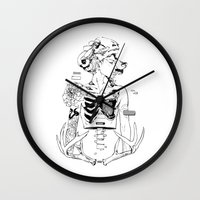 halloween Wall Clocks featuring Halloween by Cassandra Jean