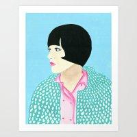 anna Art Prints featuring Anna by kate gabrielle