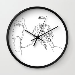 Horse and Fashion Blanc Wall Clock