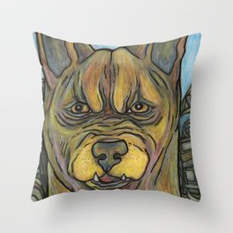Junkyard Dog Throw Pillow