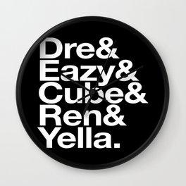 Straight Outta Helvetica Wall Clock