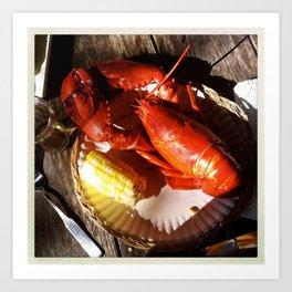 Summer Lobster Art Print