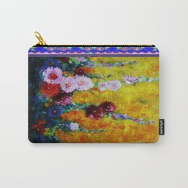 Hollyhock Painting in a Western Style Art Design Carry-All Pouch