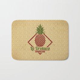 La Orotava Valley pineapple basket Bath Mat