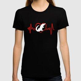 I Love Crocodiles Heartbeat T-shirt
