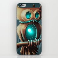 owl iPhone & iPod Skins featuring Night Owl by Chump Magic