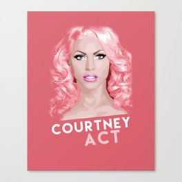 Courtney Act, RuPaul's Drag Race Queen Canvas Print