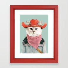Rodeo Cat Framed Art Print