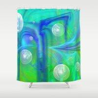 bubbles Shower Curtains featuring Bubbles by Roger Wedegis