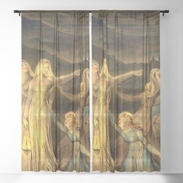 """William Blake """"The Parable of the Wise and Foolish Virgins"""" Sheer Curtain"""
