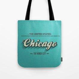 Vintage Chicago Tote Bag