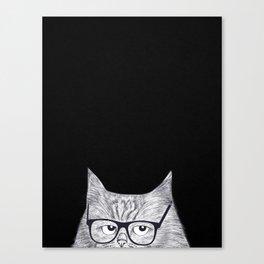 Intelligent cat Canvas Print