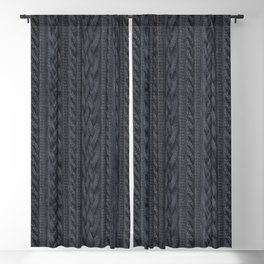 Charcoal Cable Knit Blackout Curtain