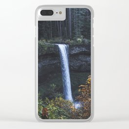 Evening Silver Clear iPhone Case
