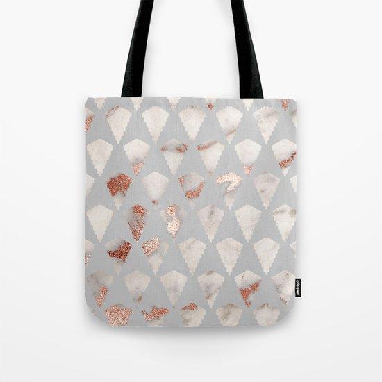 Rose gold marble pattern Tote Bag
