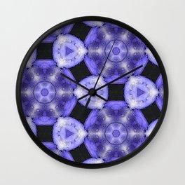 Purple Passion Pattern 6 Wall Clock
