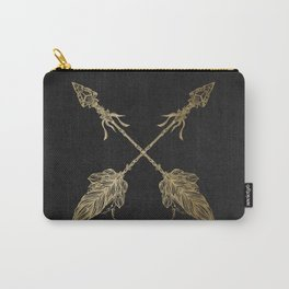 Gold Arrows on Black Carry-All Pouch