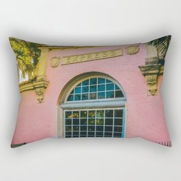 Train Station Tropicale Rectangular Pillow