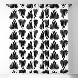 Black striped hearts on a white background. Blackout Curtain