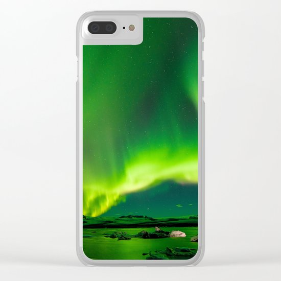 Iceland Northern Lights Clear iPhone Case