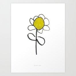 Black and Yellow Flower Art Print