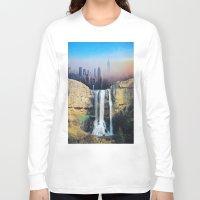 manhattan Long Sleeve T-shirts featuring Manhattan Falls by John Turck