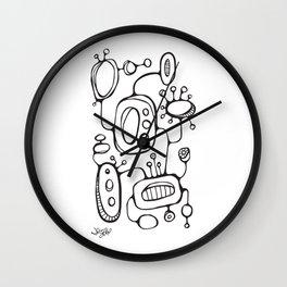 Orbs N Lines - Scribbles 02 Wall Clock