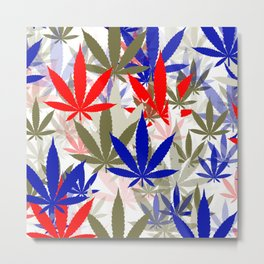 Marijuana Cannabis Weed Pot Independence Day Metal Print